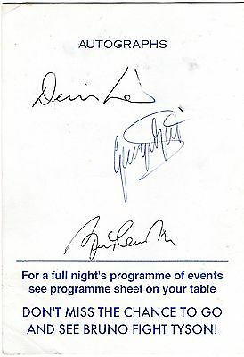 Authentic Signed George Best Dennis Law Bobby Charlton.prog..real Signatures.coa