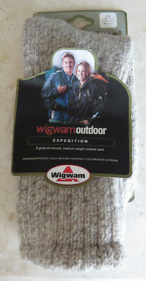 Wool Socks Wigwam Outdoor Expedition Sz Large Unisex Hiking Cold Weather Hunting