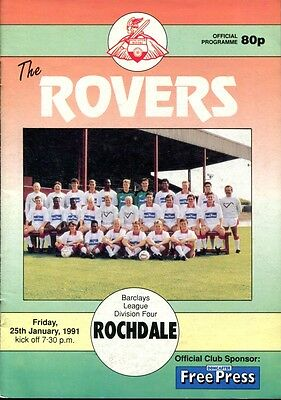 Doncaster Rovers v Rochdale 25/01/91 Division 4