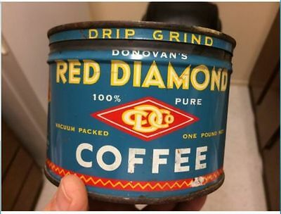 Vintage  RED DIAMOND COFFEE 1lb original lid, awesome collectible