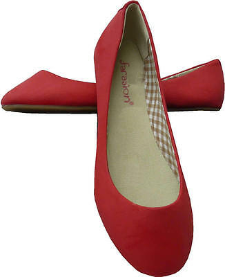 Wholesale Job Lot Ladies 10 Pairs Ladies Flat Dolly Red Shoes Size 5