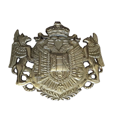 Austrian Coat Of Arme Brass Plaque for Gig Horse