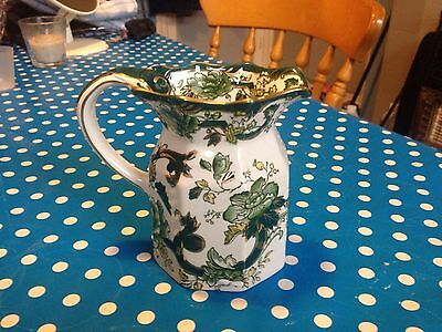 Vintage Masons Hydra Jug In The Chartreuse Pattern