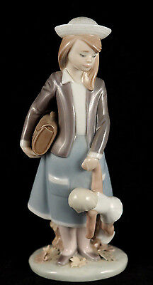 "Lladro ""Girl with Doll""  #5218 Retired Signed Spain Decorative Collectible"