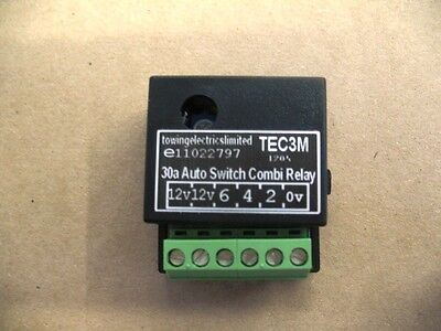 12v DC 30A Auto Switch Dual Charge Combi Smart Relay, Towing, Caravan, Motorhome