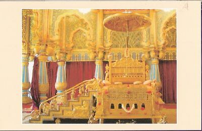India Mysore Post Card Traditional Ceremonial Golden Throne
