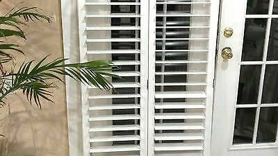 "INTERIOR SOLID WOOD PLANTATION SHUTTERS 3.5""LOUVERS WHITE 36.5"" W x 58"" L(SET I)"
