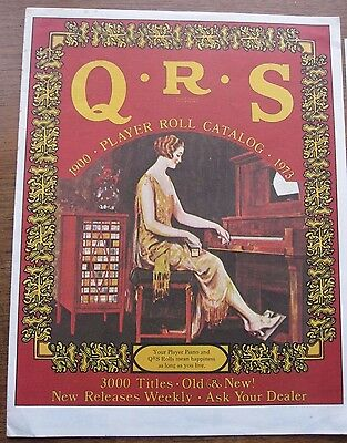 Q.R.S. PIANOLA  ROLLS 'CATELOG'   1973 Edition