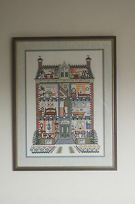 Pako Doll's House Counted Cross Stitch Framed + Completed - Home/Nursery Decor