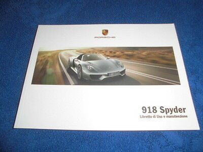 porsche 918 spyder owners manual handbooks