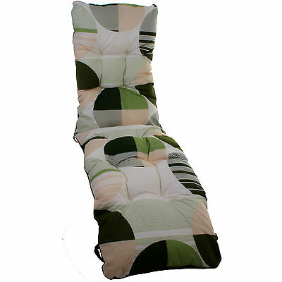 Replacement Sun Lounger Cushion Garden Chair Padded Recliner Cover