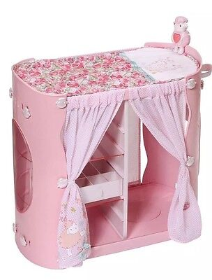 *5@3 Baby Annabell 2 in 1 Baby Unit Wardrobe and Changing Table (damaged Box)