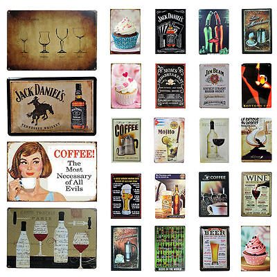 Vintage Metal Tin Sign Bar Pub Home Wall Retro Decor Plaque Restaurant Beer Wine
