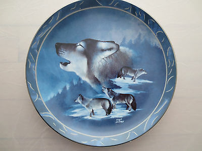 Blue Brotherhood Wolf Plate Spirit of the Wildernesse Bradford Exchange 1995