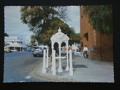 Hay Nsw Main Street Old Drinking Fountain Bank Commonwealth Postcard