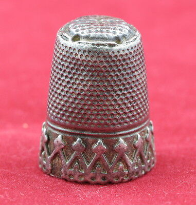 Antique Vintage  Sterling Silver Thimble Marked