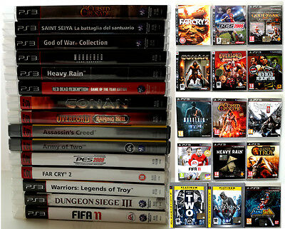 PS3 collection: lotto/gruppo 15 videogames PAL ITA, come God of War Collection