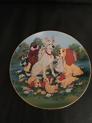 disney lady and the tramp plate