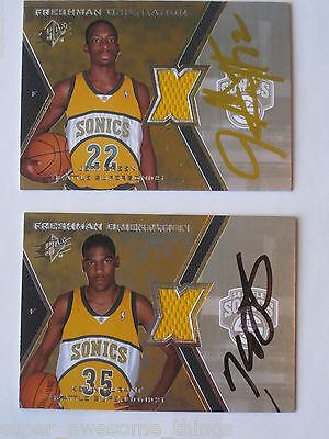 Kevin Durant Jeff Green Autographed Signed Spx Freshman Orientation Jersey Rc