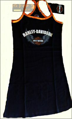 Baby Doll Harley Davidson Ufficiale 100% Cotone Intimo Sexy Nero Black Babydoll
