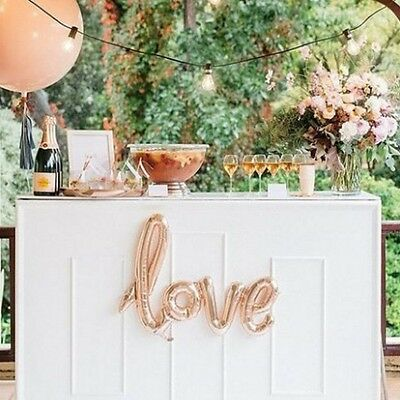 """Giant Love Balloon Script 40 """" Wedding Decoration Party Baby Rose Champagne"""