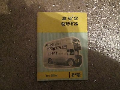 Ian Allan Bus Quiz book from the early 60's