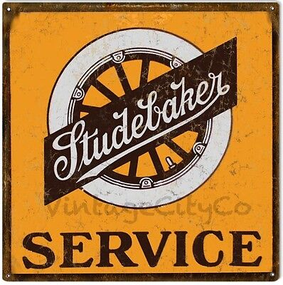 """Antique Style """" Studebaker Service """" Advertising Metal Sign"""