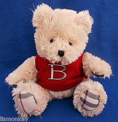 Burberry Bear Plush Soft Cuddly Teddy Bear Burberry Parfums Arnold Red Jumper