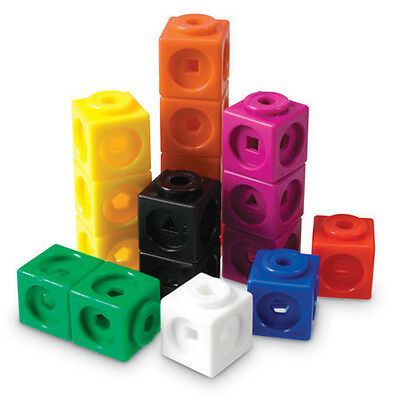 Learning Resources Mathlink Cubes Set of 100 - NEW