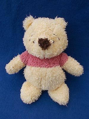 Disney Store Winnie the Pooh Pastel bear Pink Top Soft Plush Cuddly Toy Teddy