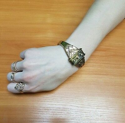 Rare imper. RUSSIAN 56 Gold Bracelet with Pearls, Romanov dynasty 19th century