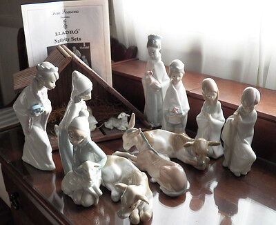 12 Piece LLadro Childrens Nativity Set with Manger and Pamphlet