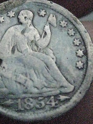 1854-O Seated Liberty Half Dime with Arrows- VG/Fine Details