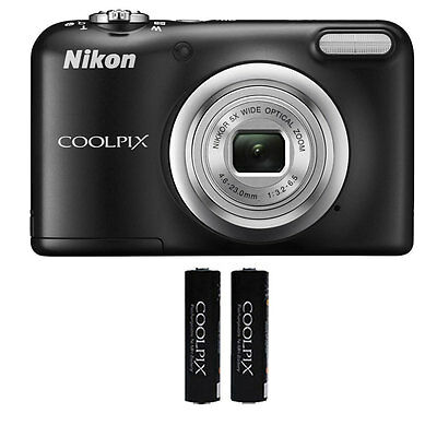 Nikon Coolpix A10 16.1 MP, 5x Optical Zoom Compact Digital Camera - Black