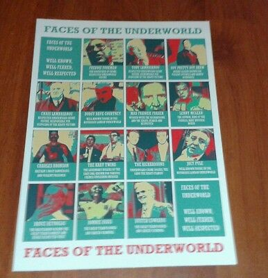 Faces Of The Underworld Poster. Krays. Richardsons. Freddie Foreman. Gangsters.