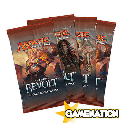 Magic the Gathering: 4 Aether Revolt Booster Packs (new & sealed)