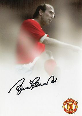 Authentic Signed Bobby Charlton Manchester United Pr Card...real Signature...coa
