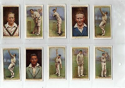 Cricketers 1928 - Wills cigarette cards