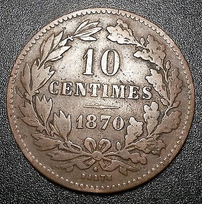 Luxembourg 10 Centimes 1870