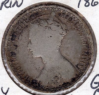 KEY Great Britain Florin 1869 Only 297K Minted