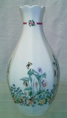 Small Royal Doulton Bud Vase Bernice 1990 Bone China Ditsy Floral Butterflies