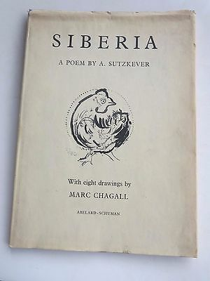 Siberia - A Poem By A. Suutzkever - 8 Drawings & Preface By Marc Chagall - 1961