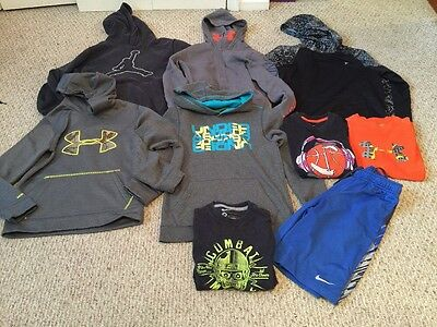 Lot Of Boys Athletic Clothes(under Armour, Nike, Adidas)-size Large