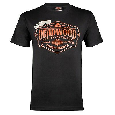 Deadwood Harley-Davidson® Men's Cards Short Sleeve Black T-Shirt