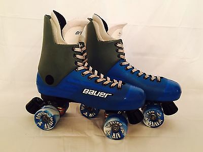 Bauer Bravo Blue Quad Roller Skates UK 11