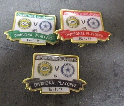 Greenbay Packers Dallas Cowboys 2017 Ltd Edt  Divisional Playoff Badge