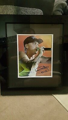 Signed and framed Eminem photograph with coa