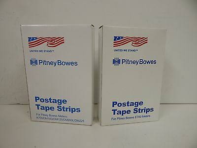 PITNEY BOWES  2 boxes of Postage Tape Strips For E700 Meters Reorder: 613-8