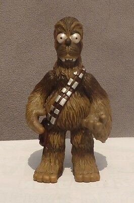 homer simpson parody star wars chewbacca mexican toy resin