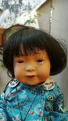 """ANTIQUE JDK Repro Artist Asian 12"""" 243 baby all bisque"""